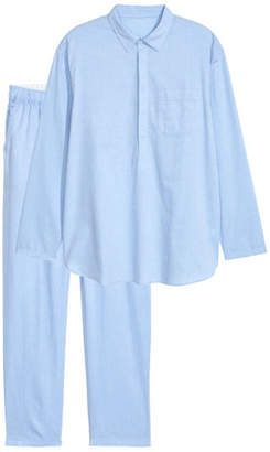 H&M Pajama Shirt and Pants - Blue