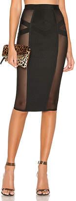superdown Darya Side Mesh Skirt