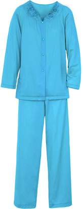 Shadowline Women's Petals Long Sleeve Pajama