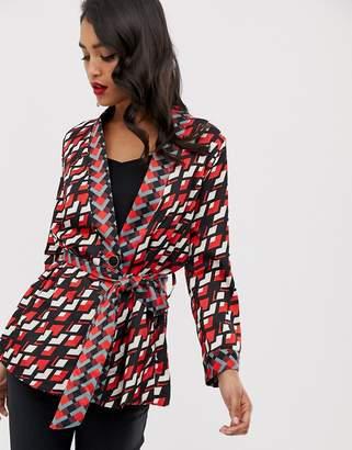 c2e7597a8 Closet London Closet tie waist kimono jacket