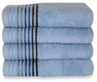Dimora Turkish Cotton Hand Towels in Blue (Set of 4)