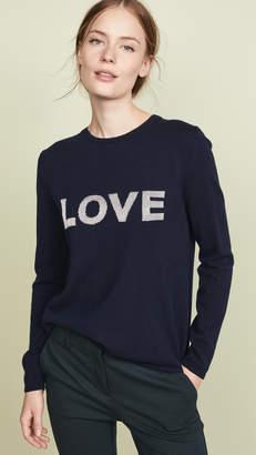 Chinti and Parker Metallic Love Wool Sweater