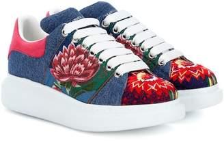 Alexander McQueen Embroidered platform sneakers