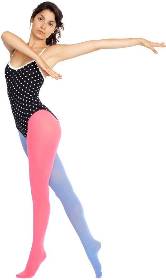 American Apparel Opaque Two Color Pantyhose