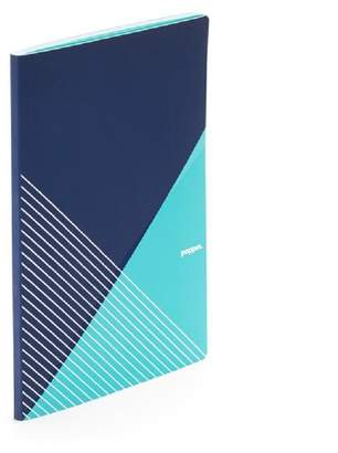 Poppin Criss-Cross Slim Notebook - Navy + Aqua