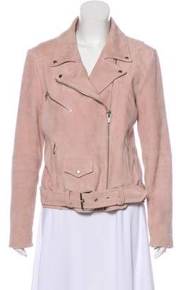 Veda Suede Leather Moto Jacket