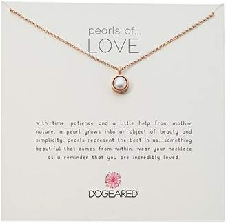 Dogeared Bezel Pearls Of Love Chain Necklace