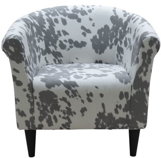 Newport Club Chair - Cowhide Silver