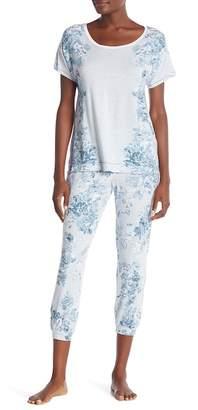Kensie Printed Cropped Pajama Pants