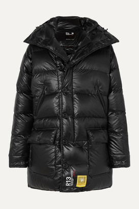 BRUMAL R13 Hooded Quilted Shell Down Parka - Black