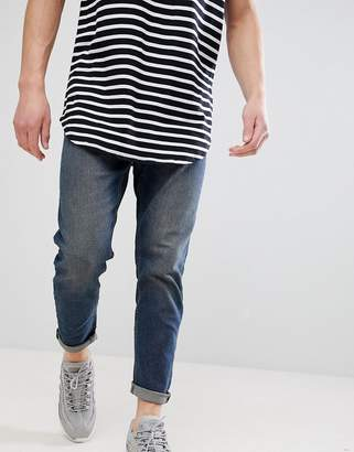 New Look Tapered Jeans In Mid Blue