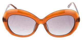 Linda Farrow Luxe Jackie-O Tinted Sunglasses w/ Tags