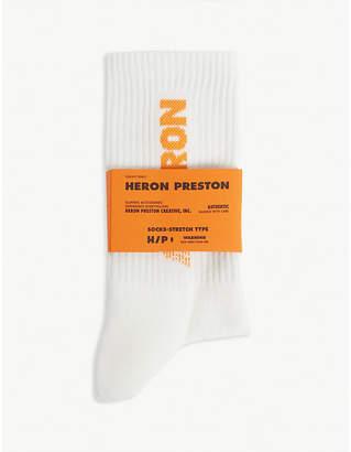 Heron Preston Logo cotton socks