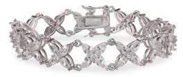Nina Jojo Crystal Floral Link Bracelet
