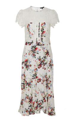 Marissa Webb Imani Print Lace Midi Dress