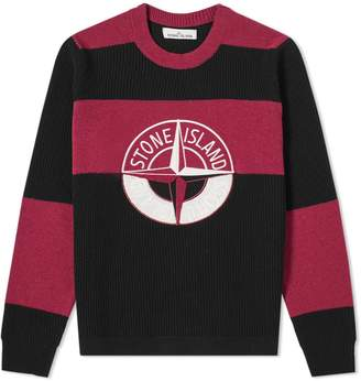 Stone Island Graphic Embroidered Logo Knit