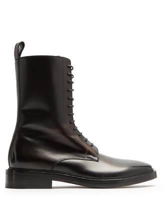 Balenciaga Lace-up leather boots
