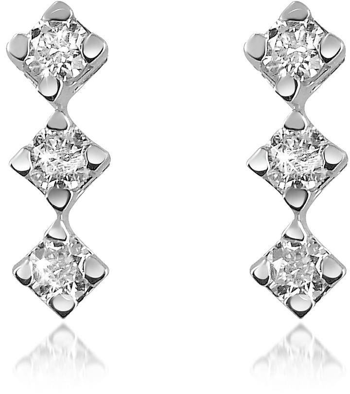 Forzieri 0.24 ct Diamond Drop 18K Gold Earrings