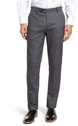 Ted Baker Pintztt Flat Front Stretch Solid Cotton Pants