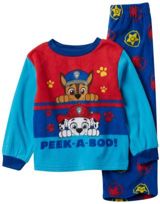 5cf2178690 Ame Paw Patrol Chase   Marshall Peek-A-Boo Fleece Pajama Set (Toddler