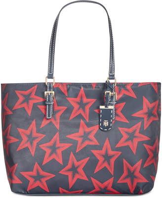 Tommy Hilfiger Julia Smooth Star-Print Extra-Large Tote