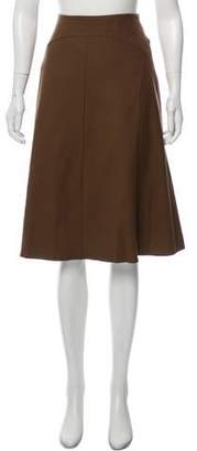 Barbara Bui Wool A-Line Skirt