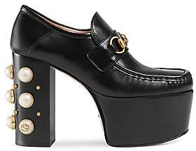 Gucci Women's Vegas Leather Platform Pumps - Black