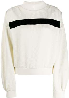 Just Cavalli contrast stripe sweater