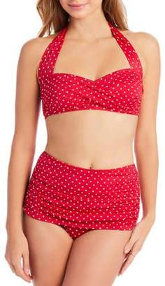 Simply Slim Women's Slimming High-Waisted Bikini Two-Piece Swimsuit Set
