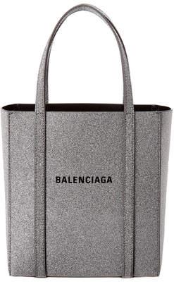 Balenciaga Everyday Xxs Metallic Leather Tote