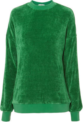 Tibi Easy Green Sweatshirt