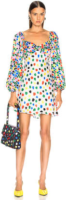 Rixo Paris Dress in Micro Tulip Black Multi | FWRD