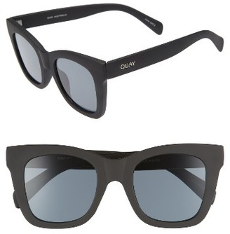 Women's Quay Australia After Hours 50Mm Square Sunglasses - Black Smoke $55 thestylecure.com