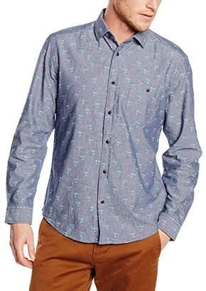 Esprit Men's AOP Chambr Regular Fit Long Sleeve Casual Shirt