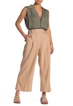 Nanette Lepore NANETTE Wide Leg Linen Blend Pull-On Pants