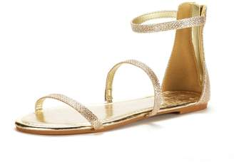 d758d8b970b4cf DREAM PAIRS Women s Athena Low Fashion Gladiator Design Ankle Strap Flat  Sandals