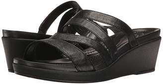 Crocs Leigh-Ann Mini Wedge Leather Women's Wedge Shoes