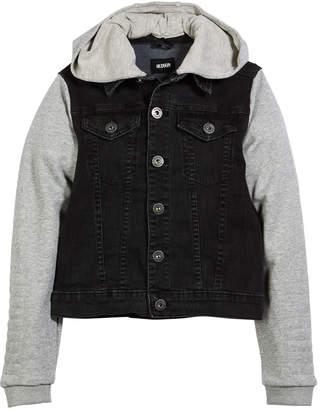 Hudson Emerson Denim Jacket w/ Contrast Sleeves, Size S-XL