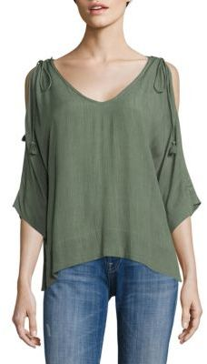 Ella Moss Katella Cold Shoulder Tunic $148 thestylecure.com