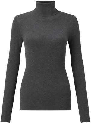Jigsaw Silk Cotton Polo Neck Sweater
