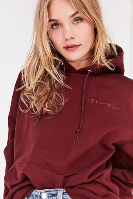 Champion + UO Powerblend Mini Logo Hoodie Sweatshirt $65 thestylecure.com