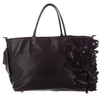 ValentinoValentino Ruffle Leather Satchel