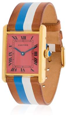 Cartier La Californienne Pink Vintage Leather And Silver Watch