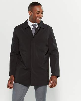 Kenneth Cole New York Black Zip Front Rain Coat
