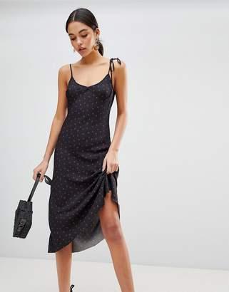 Bec & Bridge Strappy Cherry Print Midi Dress