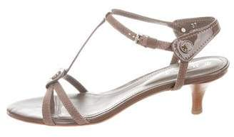 Tod's Logo Ankle Strap Sandals