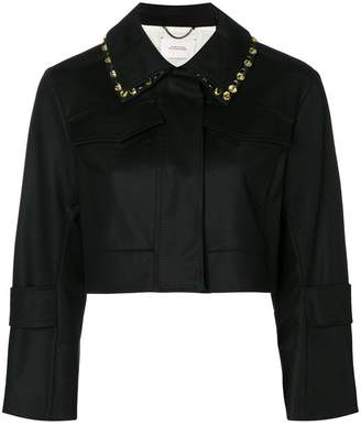 Schumacher Dorothee embellished collar cropped jacket