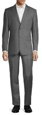 Saks Fifth Avenue Slim-Fit Donegal Wool Plaid Suit