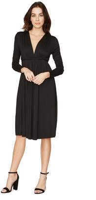 Rachel Pally LONG SLEEVE CAFTAN DRESS - BLACK