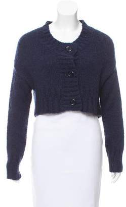 Galliano Cropped Knit Cardigan